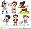 Clipart Of Kids Playing Sports Image