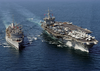 The Guided Missile Cruiser Uss Gettysburg (cg-64) And Nuclear Powered Aircraft Carrier Uss Enterprise Image