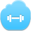 Free Blue Cloud Barbell Image