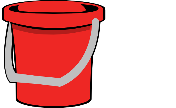 Red Bucket Clip Art at Clker.com - vector clip art online, royalty ...