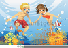 Clipart Of Kids Swimming Image