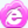 Free Pink Cloud Internet Explorer Image