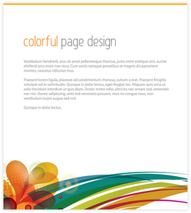 Colorful Page Design 1 Image