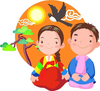 South Korea Children Clipart Image