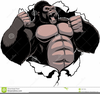 Angry Gorilla Clipart Image