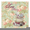 Bridal Tea Party Clipart Image