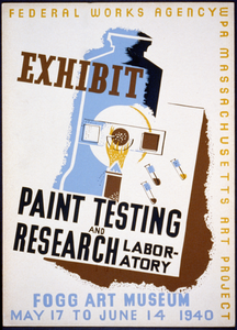 Exhibit Paint Testing And Research Laboratory : Fogg Art Museum. Image