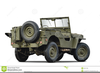 Military Jeep Clipart Image