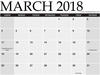 Mar Calendar Hd Template Image