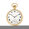Gold Pocket Watch Clipart Image