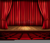 Red Theater Curtain Clipart Image