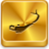 Free Gold Button Aladdin Lamp Image