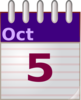 Oct 5 Notepad Clip Art