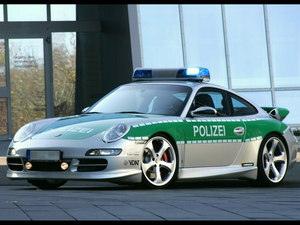 Cars Porsche Police Car Wallpaper Image