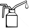 Stock Vector Spout Oiler Can Applicator Image