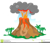Active Volcano Clipart Image