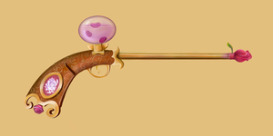 Gun With Rose Image