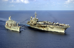 Uss Kitty Hawk - Unrep With Usns Rappahannock Image