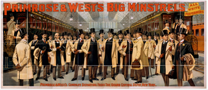 Primrose & West S Big Minstrels All White Performers. Image
