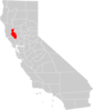 California County Map Lake County Highlighted Clip Art