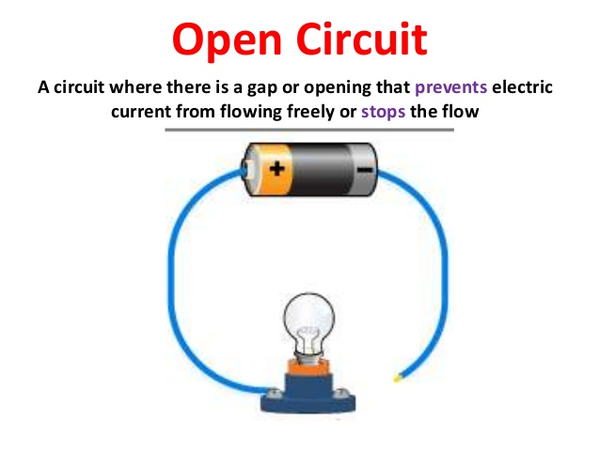 Open Electrical Circuit : Closed open circuit free images at clker vector