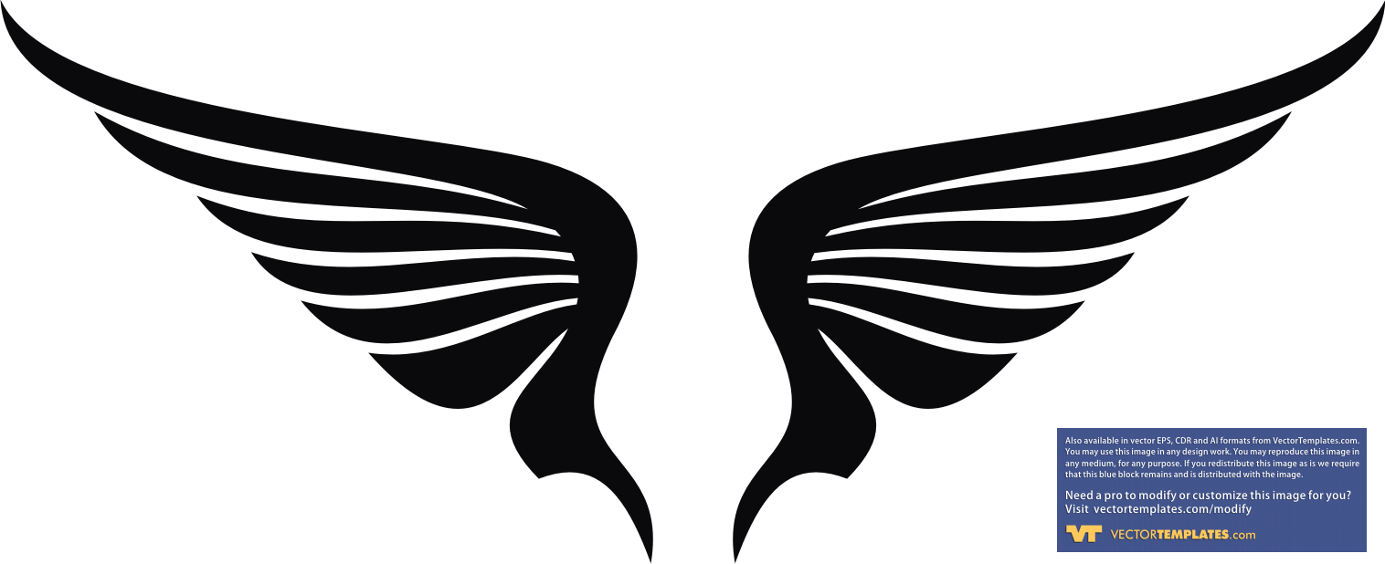 Pics Photos - Religion Clip Art Of Black Angel Wings Spread Open On A ...