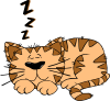 Cartoon Cat Sleeping Clip Art