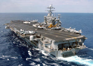 Uss Harry S. Truman (cvn-75) Steams Underway In The Eastern Mediterranean Sea Image