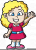 Blonde Little Girl Clipart Image