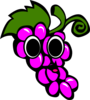 Happy Grapes Clip Art