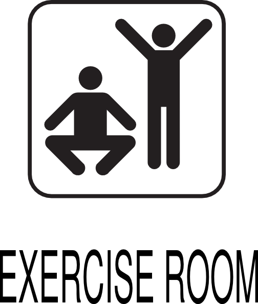 Exercise room clip art at clker vector