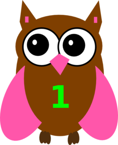 Pink Owl Olivia Birthday 3 Clip Art