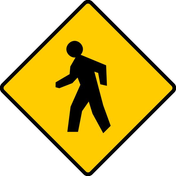 pedestrian sign clip art at clkercom vector clip art
