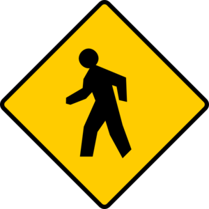 Pedestrian Sign Clip Art