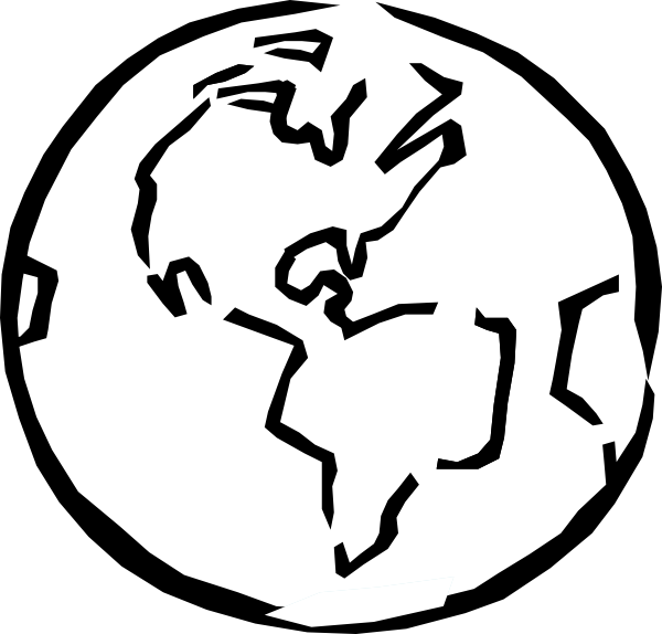 planet earth clipart black and white - photo #13