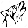 Dog Howling Clipart Image