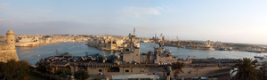 The Amphibious Assault Ship Uss Wasp (lhd 1) Sits Pier-side In Valletta, Malta During A Four-day Port Visit. Image