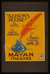 Alison S House  By Susan Glaspell A Poetic Romance. Image