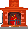 Animated Christmas Fireplace Clipart Image