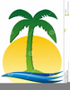 Palm Tree And Sun Clipart Image