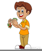 Clipart Child Eating Apple Image