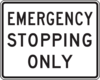 Emergency Stopping Only Sign Clip Art