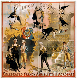 The Celebrated French Aerielists [sic] & Acrobats The Latest European Sensation. Image
