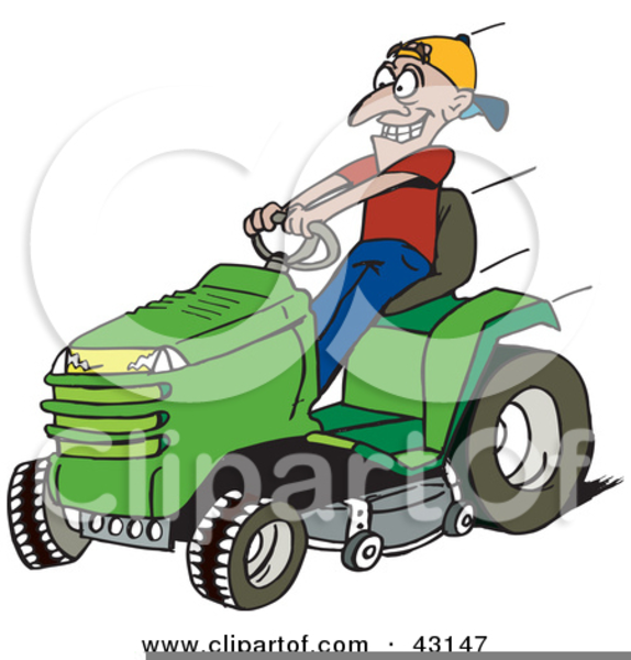 Riding Lawn Mower Clipart Free Free Images At Clker Com Vector