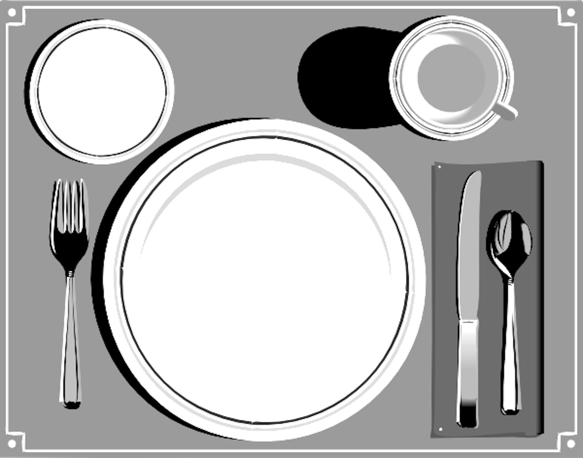 Place setting free images at vector clip art for Table place setting