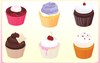 Free Vector Cupcakes Image