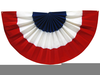 American Flag Bunting Clipart Image