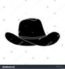 Cowboy Hat Clipart Black And White Image