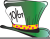 Mad Hatter Top Hat Clipart Image