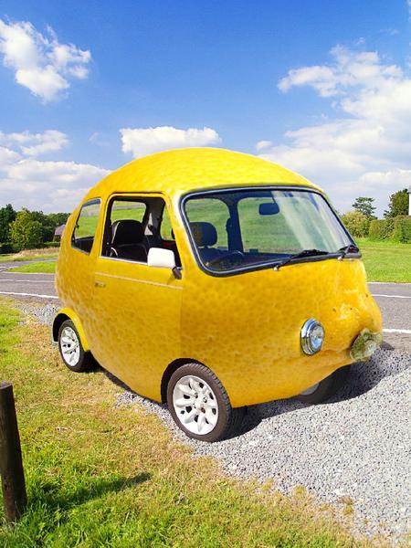 lemon car free images at clkercom vector clip art